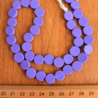 10mm Coin SOLID Purple